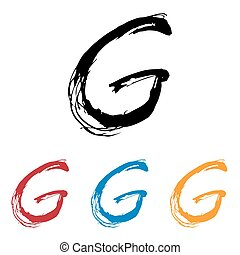 Ink drawn typography Sketchy Letter G - Sketchy Letter G in ...