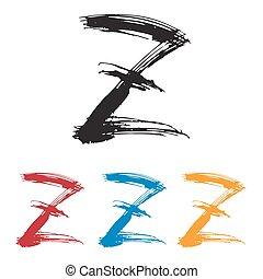 Ink drawn typography Sketchy Letter Z - Sketchy Letter Z in ...