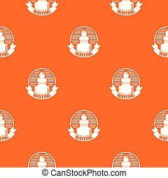 Ink for pen pattern vector orange