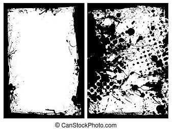 ink grunge black splat border