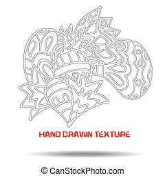 Ink hand drawn texture. Psychedelic monochrome background. Marble pattern