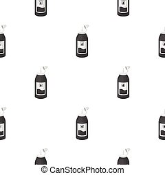 Ink in cartoon style isolated on white background. Typography pattern stock vector illustration.