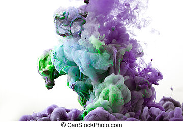 Ink in water. Abstract background. . Ink swirling in water....