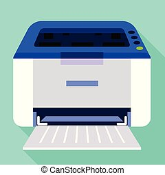 Ink jet printer icon, flat style
