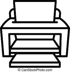 Ink jet printer icon, outline style - Ink jet printer icon. ...