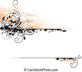 Ink Letter Decoration Background, editable vector...