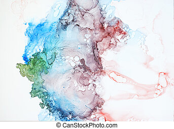 Ink, paint, abstract.