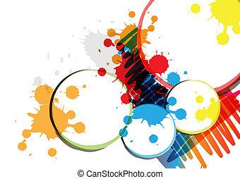 ink paint banner design