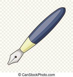 Ink pen icon, cartoon style