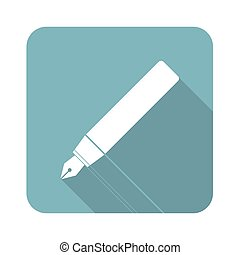 Ink pen square icon