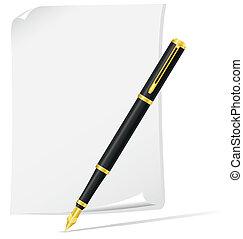 ink pen vector illustration