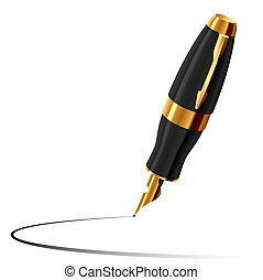 Vector illustration of an ink pen