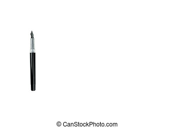 Ink pen with copy space on isolated white background