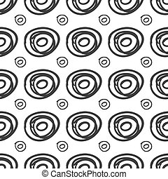 Ink rounds sketch seamless pattern