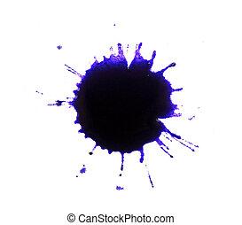 Ink splashes on white paper
