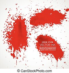 ink splatter collection vector background