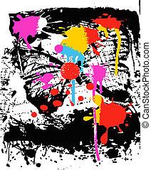 ink splatter effect