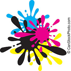 Vector Ink Splashes