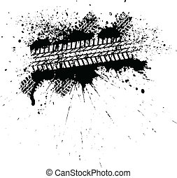 Ink tire track