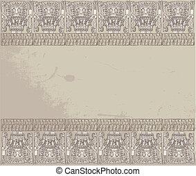 inka, vektor, grunge, illustration, bakgrund.