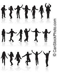 inkasować, sylwetka, taniec