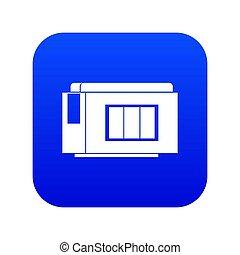 Inkjet printer cartridge icon digital blue