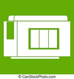 Inkjet printer cartridge icon green