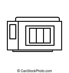 Inkjet printer cartridge icon, outline style