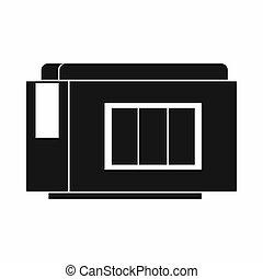 Inkjet printer cartridge icon, simple style
