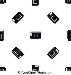 Inkjet printer cartridge pattern seamless black