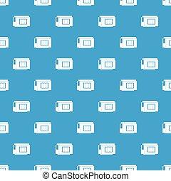 Inkjet printer cartridge pattern seamless blue