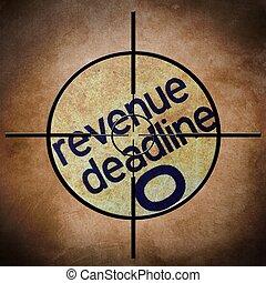 inkomsten, deadline, doel