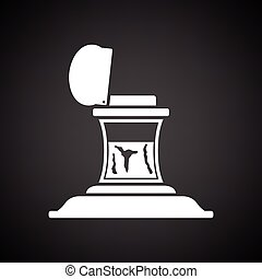 Inkstand icon. Black background with white. Vector ...