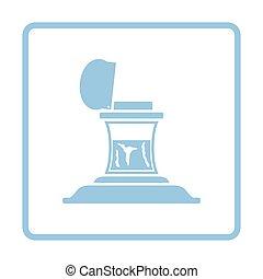 Inkstand icon. Blue frame design. Vector illustration.