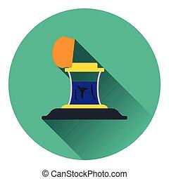 Inkstand icon. Flat color design. Vector illustration.