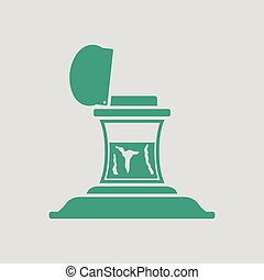 Inkstand icon. Gray background with green. Vector ...