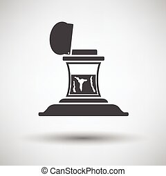 Inkstand icon on gray background, round shadow. Vector ...