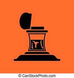 Inkstand icon. Orange background with black. Vector ...