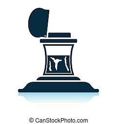 Inkstand icon. Shadow reflection design. Vector illustration...