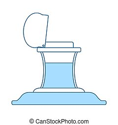 Inkstand Icon. Thin Line With Blue Fill Design. Vector ...