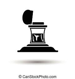 Inkstand icon. White background with shadow design. Vector ...