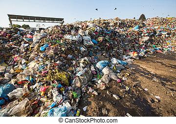 inländisch, muell, landfill.