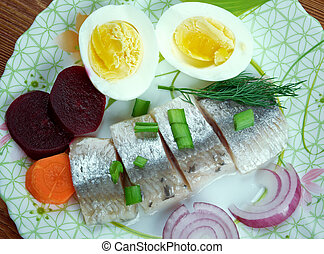 Inlagd sill - delicacy in Europe, and has become a part of Baltic, Nordic, Dutch, German