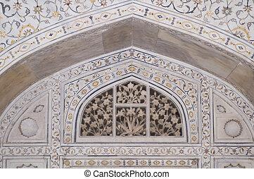 Inlaid Marble Decorating the Taj
