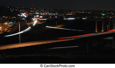 Inland Empire Interchange - This is a timelapse shot of a...