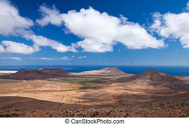 Inland Fuerteventura, northern part of the island, Montana...