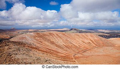 Inland Fuerteventura, view north-west from Montana de...