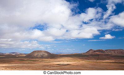 Inland Fuerteventura, northern part of the island, Monatan...