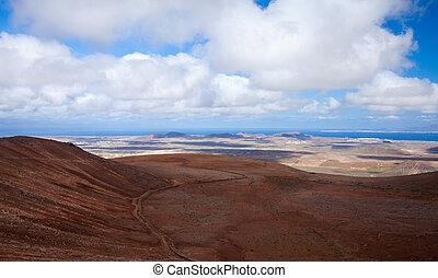 Inland Fuerteventura, view north from Montana de Ecanfraga,...