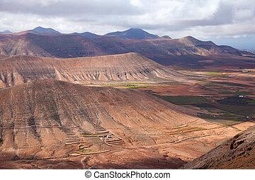 Inland Fuerteventura, view south-west from Montana de...